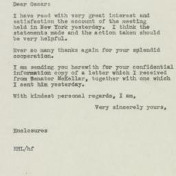 Letter : 1945 November 8