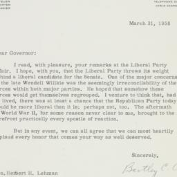 Letter : 1958 March 31