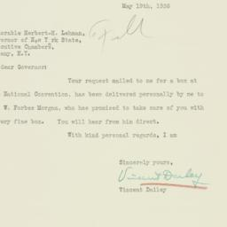 Letter : 1936 May 19