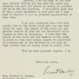 Letter : 1938 November 23