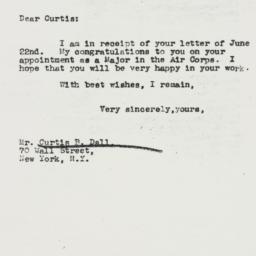 Letter : 1942 June 26