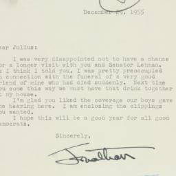 Letter : 1955 December 29