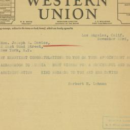 Telegram : 1936 November 23
