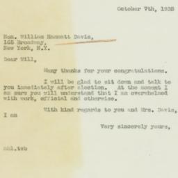 Letter : 1938 October 7