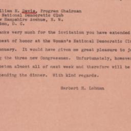 Letter : 1945 January 12