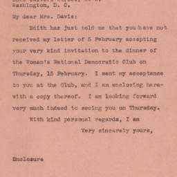 Letter : 1945 February 9