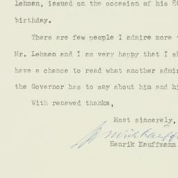 Letter : 1958 May 15