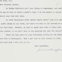 Letter : 1958 September 5
