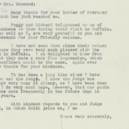Letter : 1952 February 25
