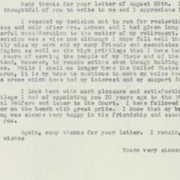 Letter : 1956 September 3