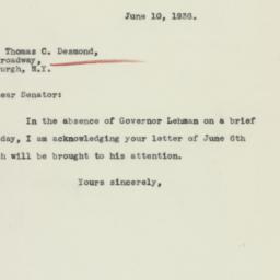 Letter: 1936 June 10