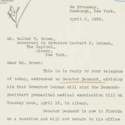 Letter: 1939 April 5