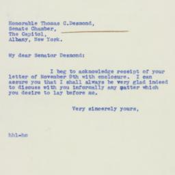 Letter: 1939 November 10
