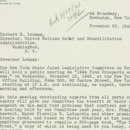 Letter : 1943 November 23