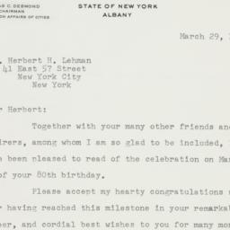Letter: 1958 March 29