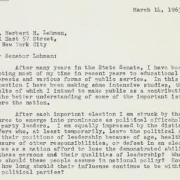 Letter : 1963 March 14