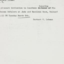 Telegram : 1948 March 8