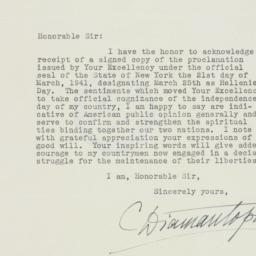 Letter : 1941 April 8