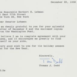 Letter : 1958 December 23