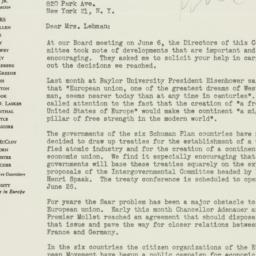 Letter : 1956 June 19