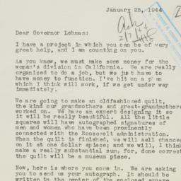 Letter: 1944 January 25