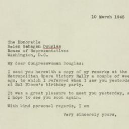 Letter: 1945 March 10
