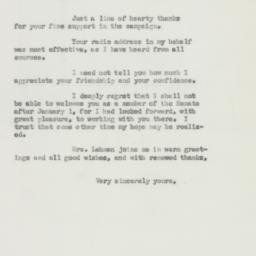 Letter: 1950 November 20