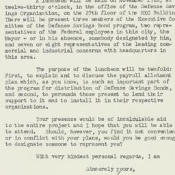 Letter : 1941 November 6