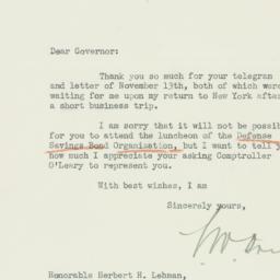 Letter : 1941 November 17