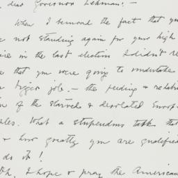 Letter : 1943 January 2