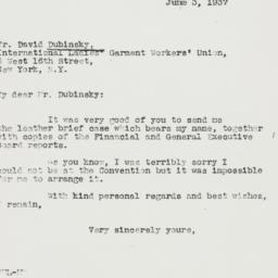 Letter : 1937 June 3