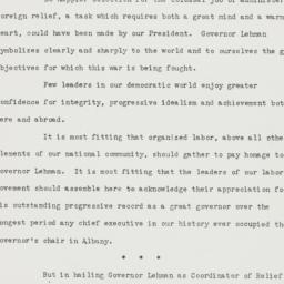 Speech : 1943 January 31