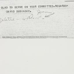 Telegram : 1946 October 21