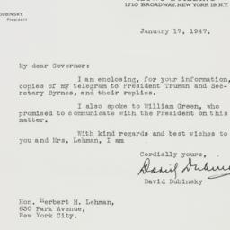 Letter : 1947 January 17