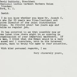 Letter : 1948 May 17