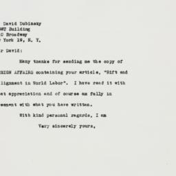 Letter : 1948 December 18