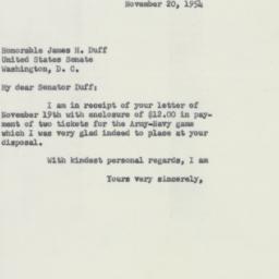 Letter : 1954 November 20