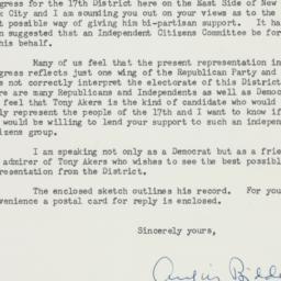 Letter : 1954 August 10