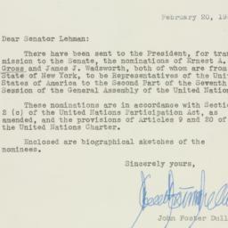 Letter : 1953 February 20