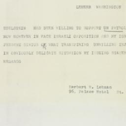 Telegram : 1955 September 6