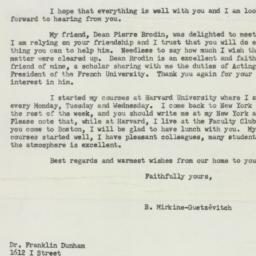 Letter : 1954 February 14