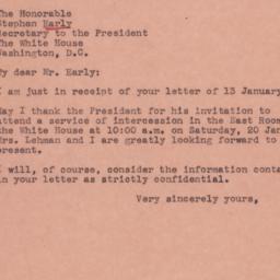 Letter: 1945 January 15