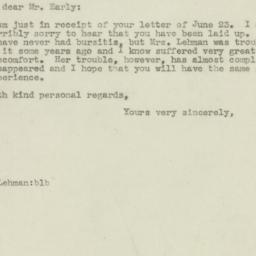Letter : 1945 June 26