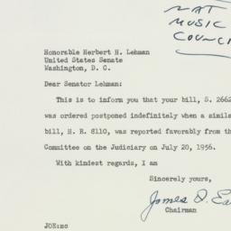 Letter : 1956 July 23