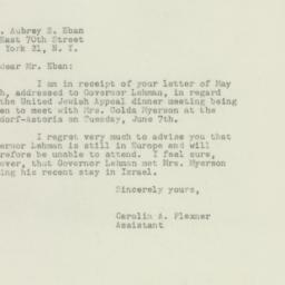 Letter : 1949 May 27