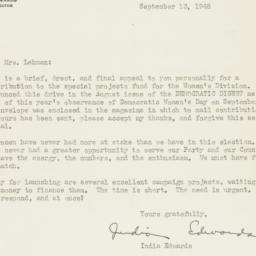 Letter : 1948 September 13