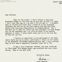 Letter : 1951 August 21