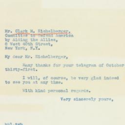 Letter : 1940 November 4