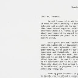Letter : 1936 March 12