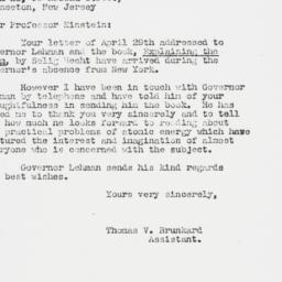 Letter : 1947 May 7